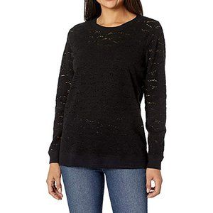 Lucky Brand Small Pull Over Crochet Lace Sweater
